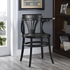 Stretch Wood Dining Side Chair - Black - EEI-1544-BLK