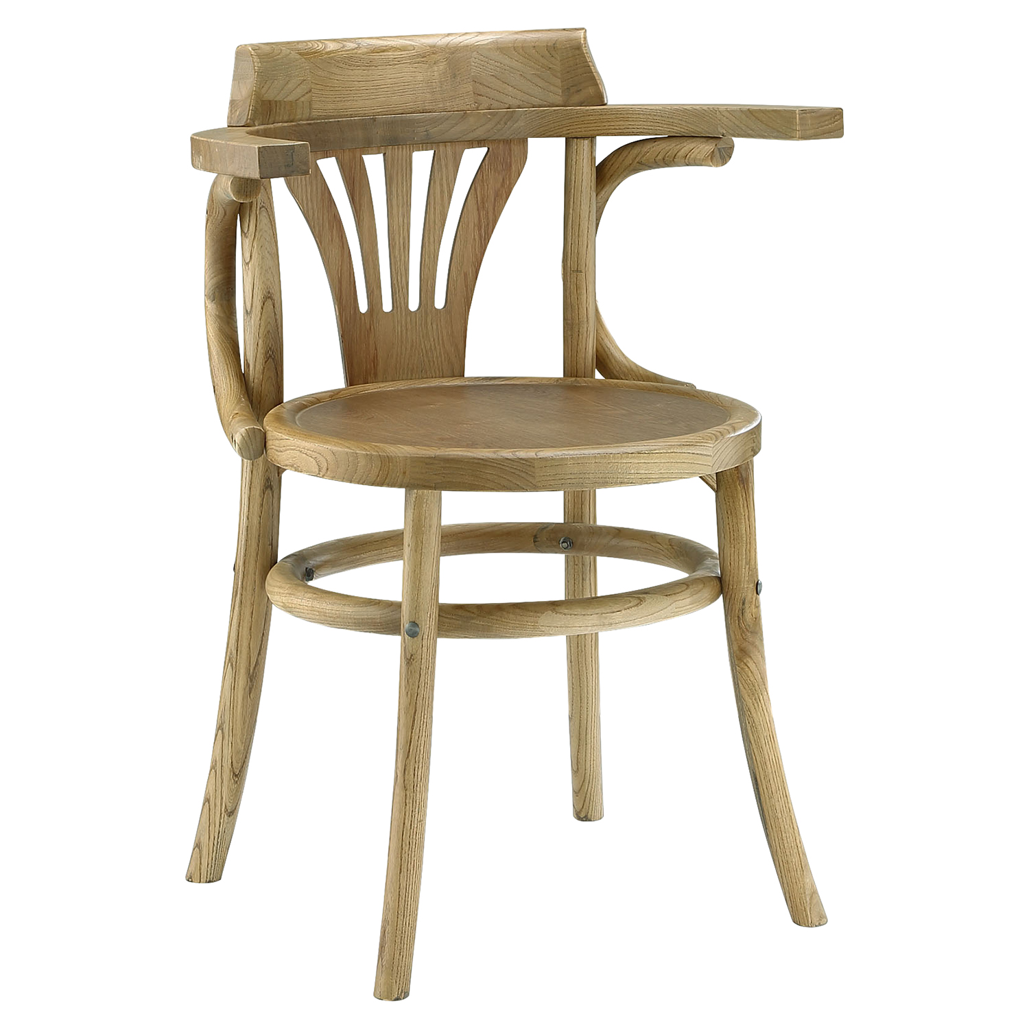 Stretch Wood Dining Side Chair - Natural - EEI-1544-NAT