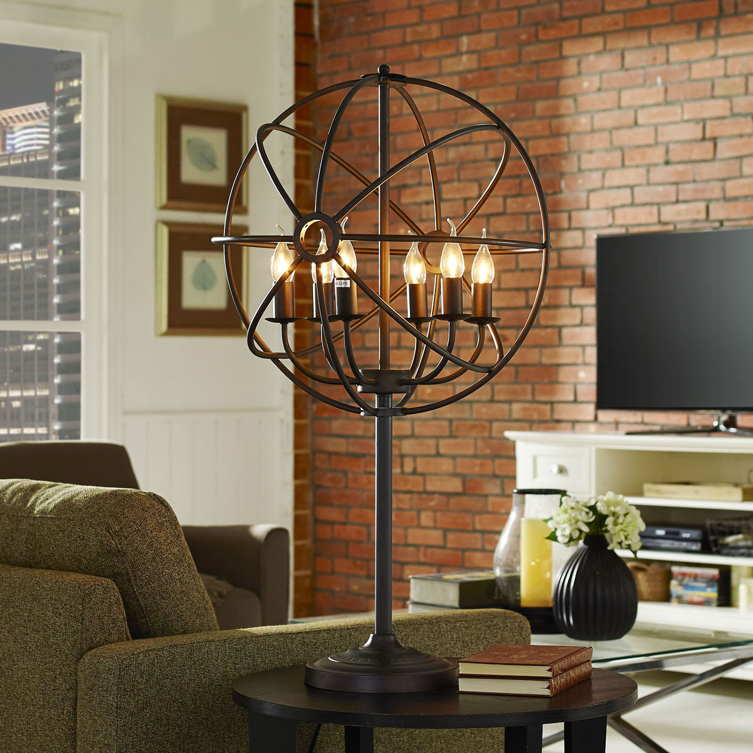 Atom Black Table Lamp - EEI-1551
