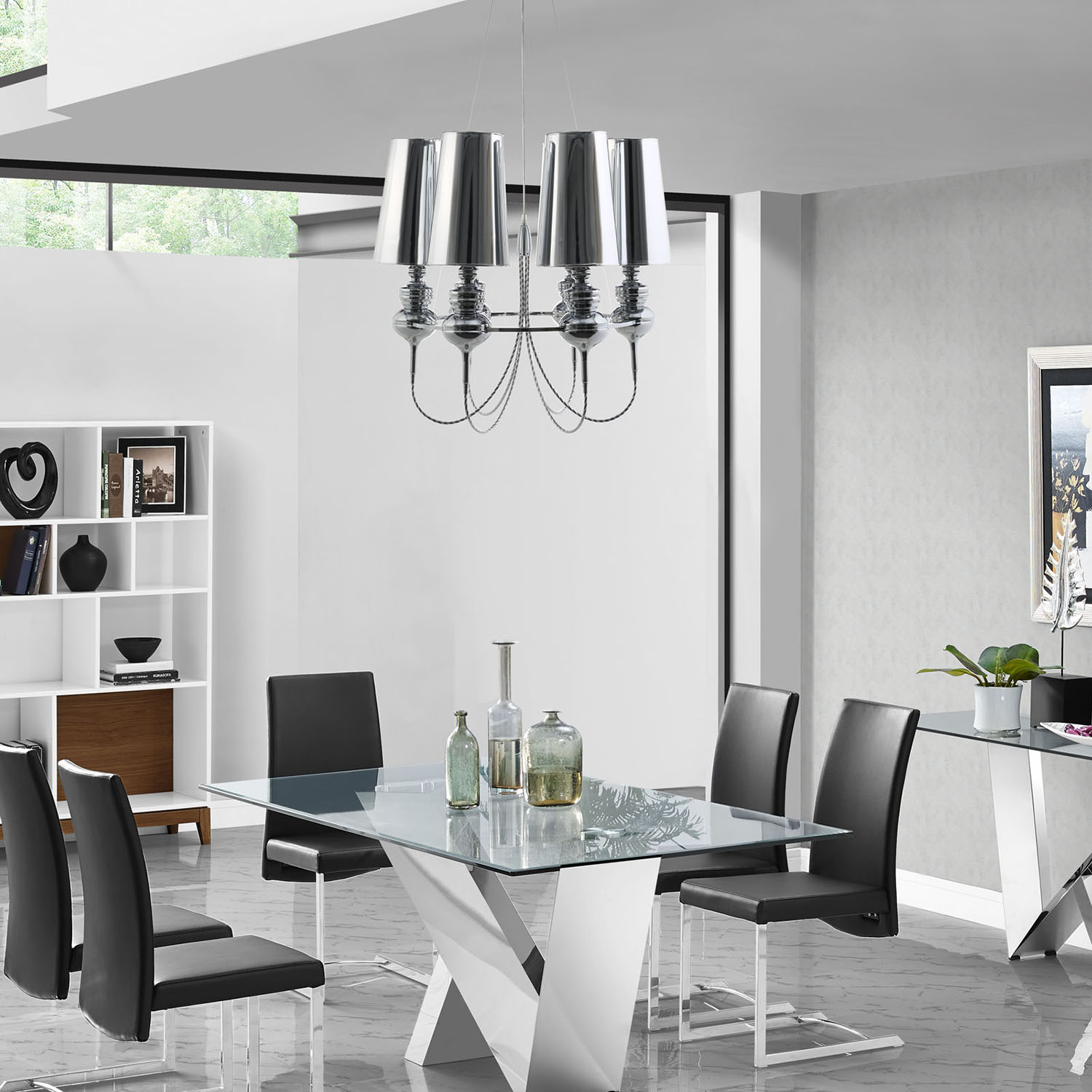 Tapestry Stainless Steel Chandelier - EEI-1555