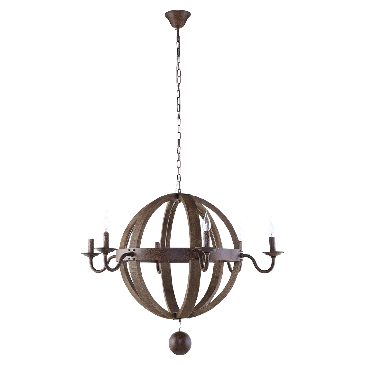 Catapult Chandelier - Antique Brass - EEI-1569