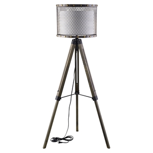 Fortune Floor Lamp - Antique Silver