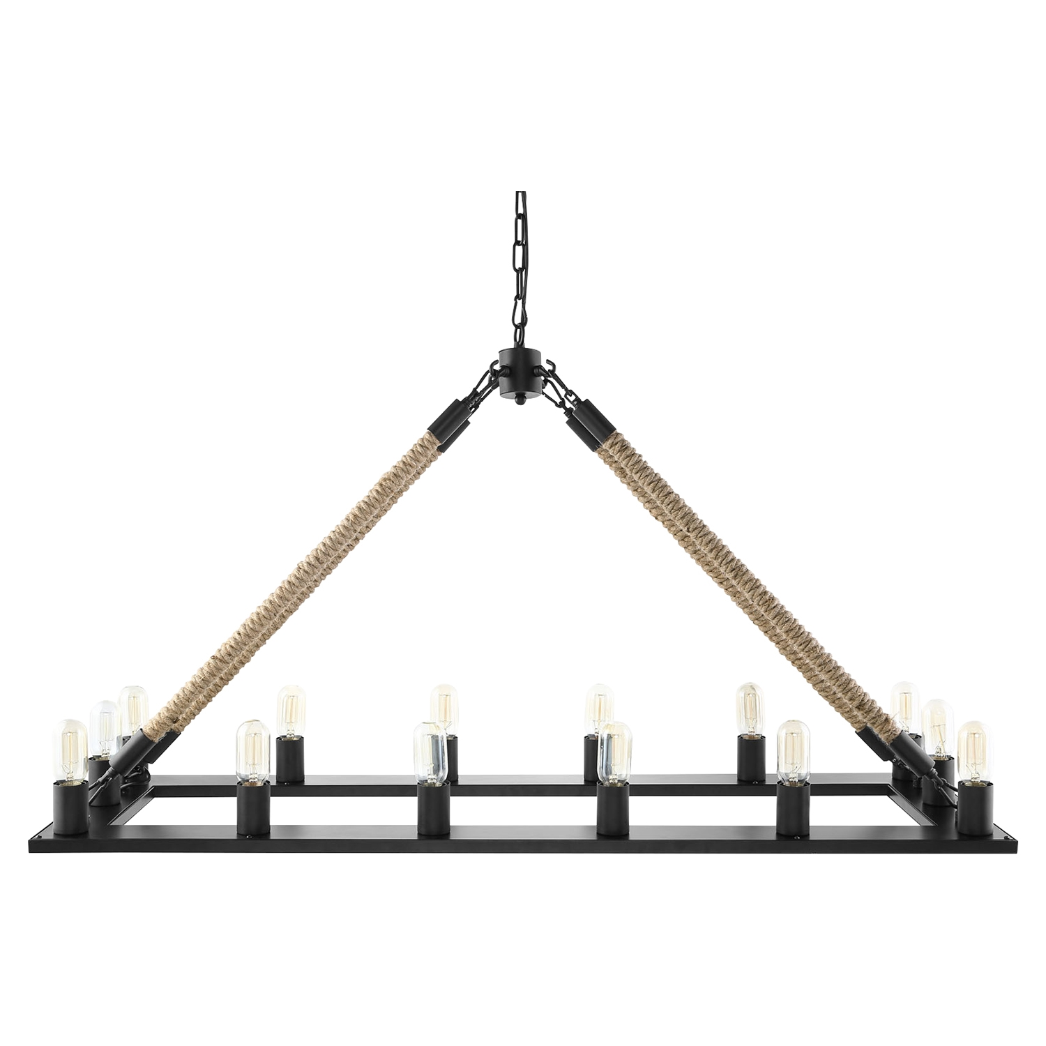 Bridge Black Chandelier - EEI-1573