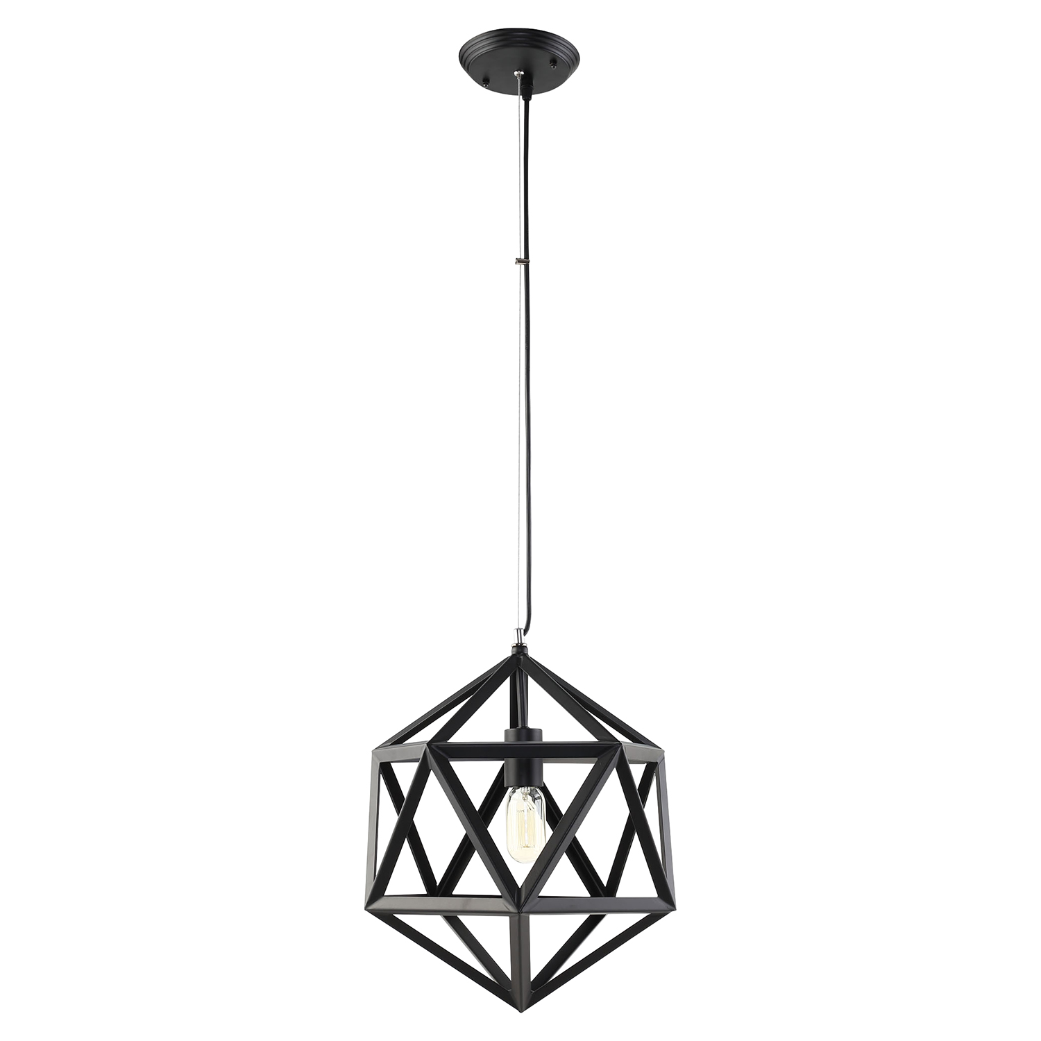 "Hadron 16"" Chandelier - Black - EEI-1579"