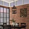 Lantern Metal Chandelier - Black - EEI-1584