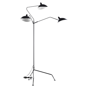 View Stainless Steel Floor Lamp - Black