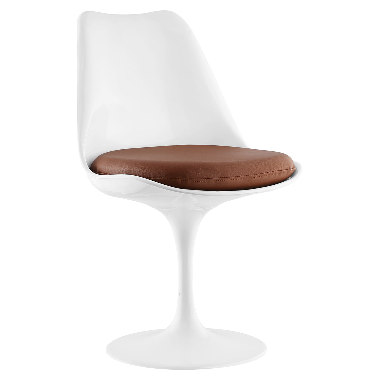 Lippa Leather Like Side Chair - Swivel, Pedestal Base - EEI-1594