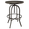 Gather 3 Pieces Dining Set - Backless, Black - EEI-1602-BLK-SET