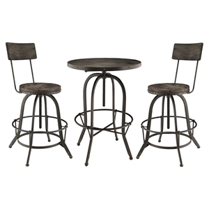 Gather 3 Pieces Dining Set - Black