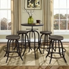 Gather 5 Pieces Dining Set - Backless, Brown - EEI-1606-BRN-SET