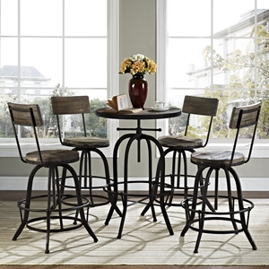 Gather 5 Pieces Dining Set - Brown