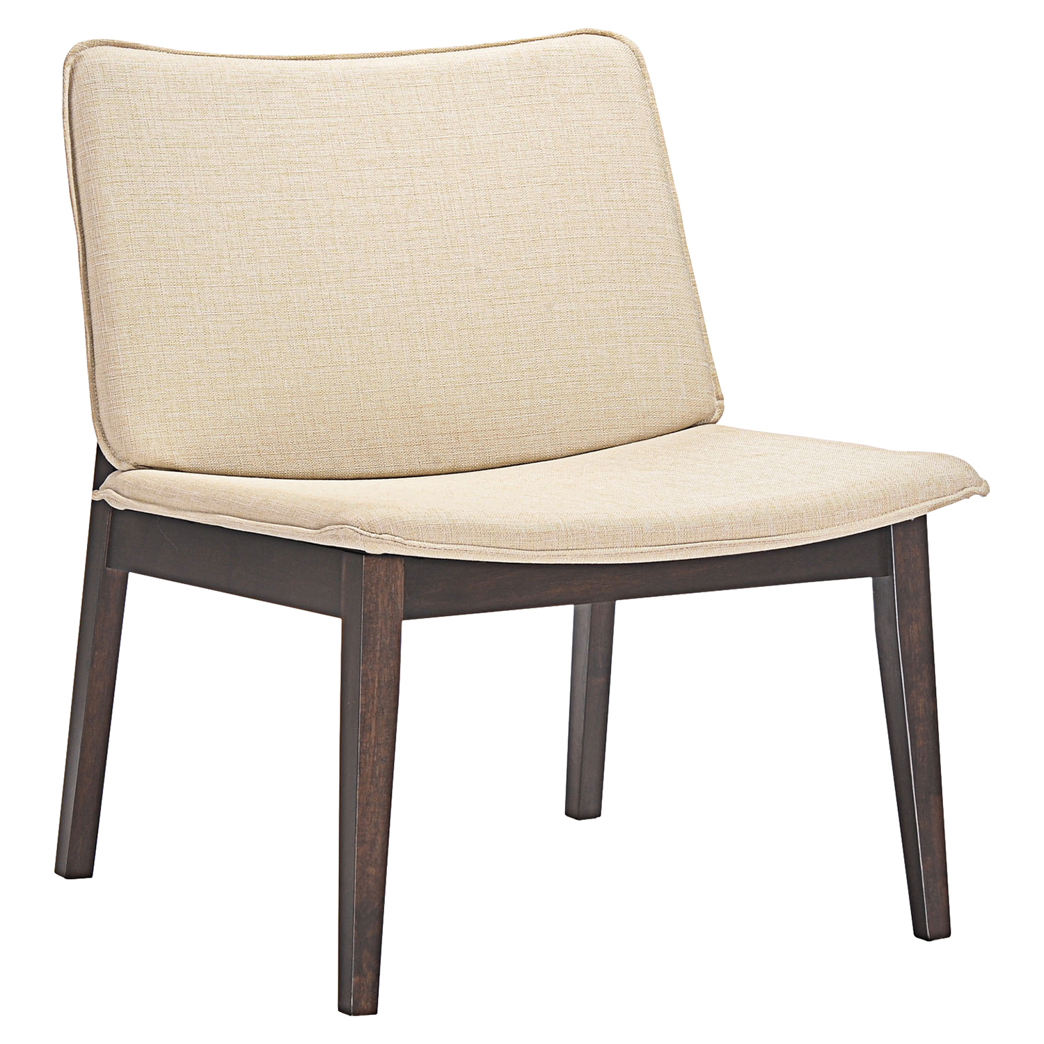 Evade Lounge Chair - Walnut, Beige - EEI-1612-WAL-BEI