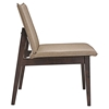 Evade Upholstery Lounge Chair - Walnut, Latte (Set of 2) - EEI-2025-WAL-LAT-SET