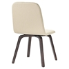 Assert Upholstery Dining Side Chair - Walnut, Beige - EEI-1613-WAL-BEI