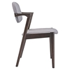 Spunk Dining Chair - Wood Frame - EEI-1616-WAL