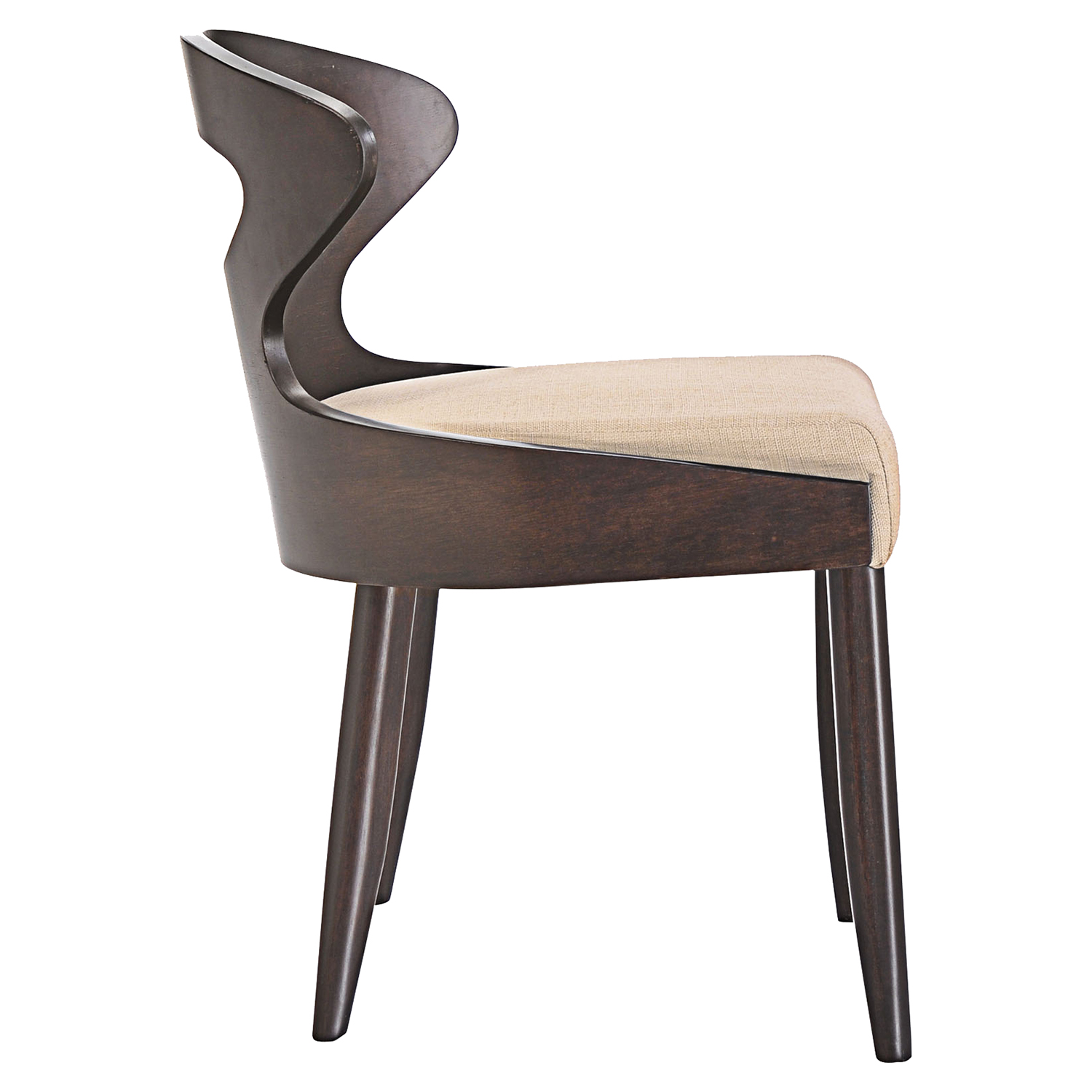 Transit Dining Side Chair - Walnut, Beige - EEI-1620-WAL-BEI
