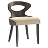 Transit Dining Side Chair - Wood Frame, Walnut, Beige (Set of 2) - EEI-2058-WAL-BEI-SET