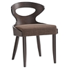 Transit Dining Side Chair - Wood Frame, Walnut, Brown (Set of 2) - EEI-2058-WAL-BRN-SET