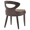 Transit Dining Side Chair - Wood Frame, Walnut, Latte (Set of 2) - EEI-2058-WAL-LAT-SET