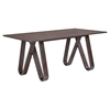 Cision Dining Table - Walnut - EEI-1621-WAL