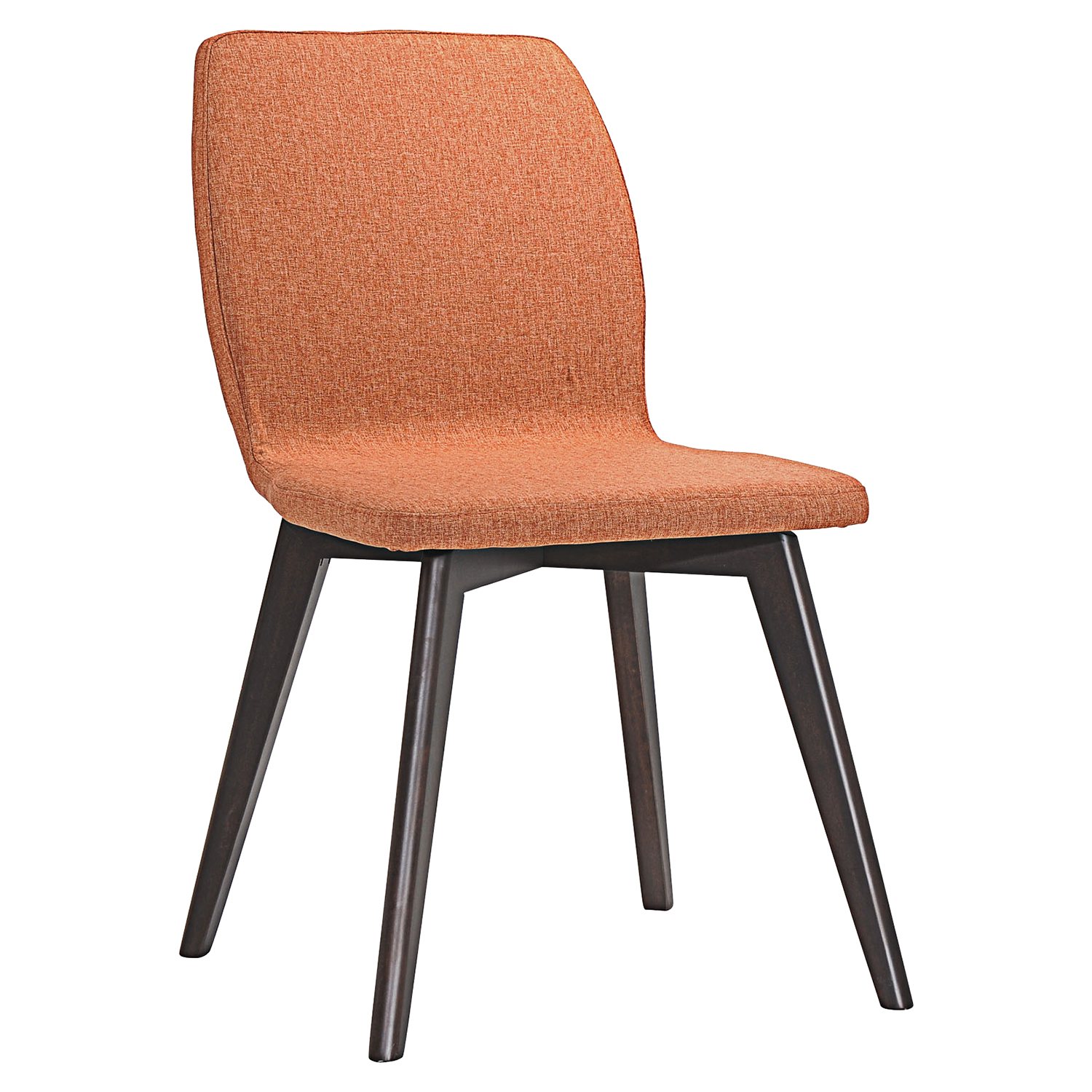 Proclaim Upholstery Dining Side Chair - Walnut, Orange (Set of 2) - EEI-2059-WAL-ORA-SET