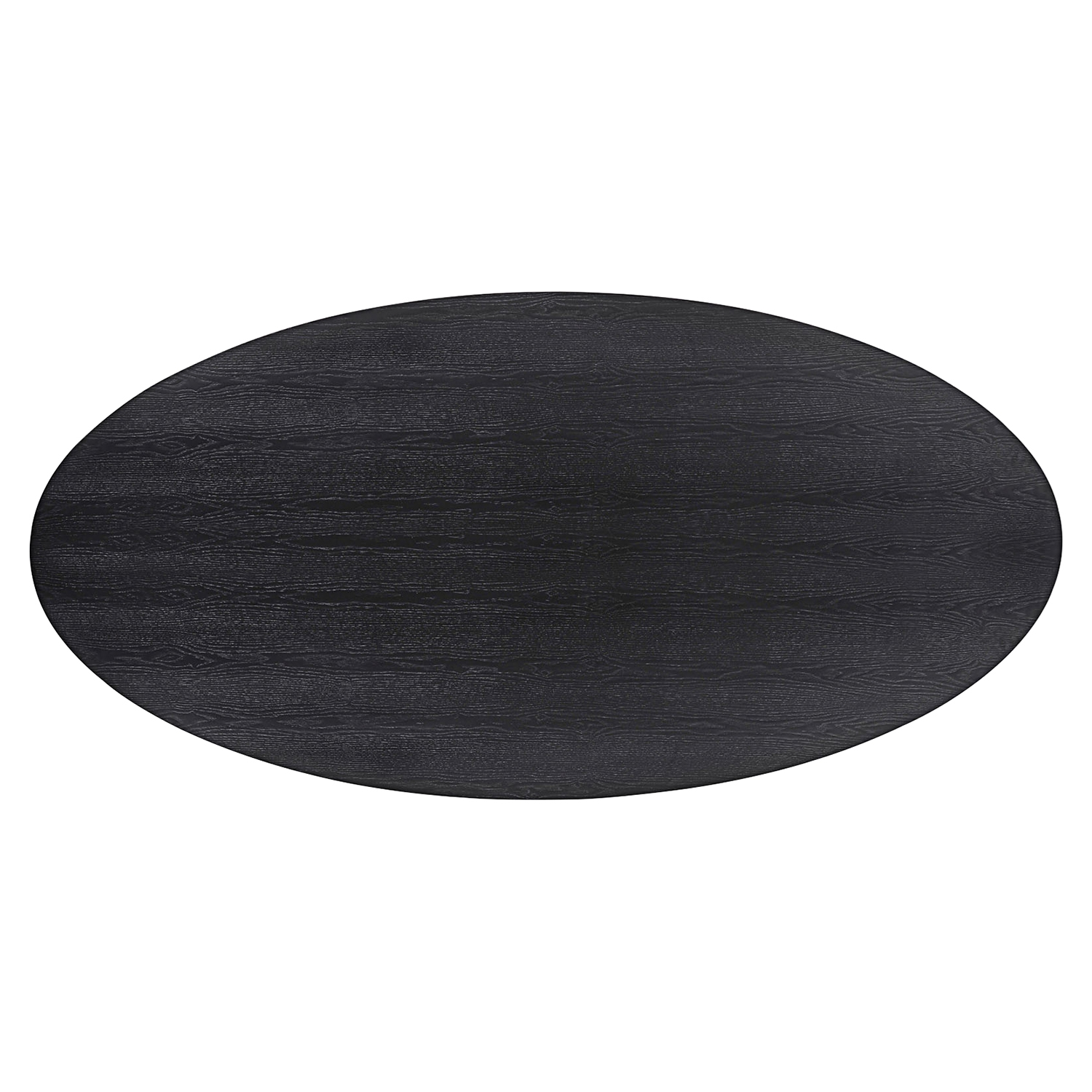 Event Oval Wood Dining Table - Black - EEI-1629-BLK