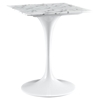 "Lippa 24"" Marble Dining Table - White - EEI-1634-WHI"