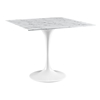 "Lippa 40"" Artificial Marble Dining Table - White - EEI-1637-WHI"