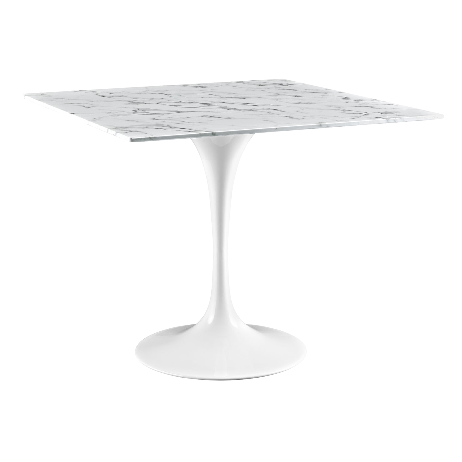 "Lippa 36"" Marble Dining Table - White - EEI-1636-WHI"