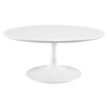 "Lippa 40"" Wood Top Coffee Table - White - EEI-1647-WHI"