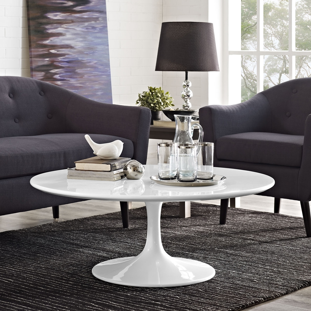 lippa 40 wood top coffee table white dcg stores. Black Bedroom Furniture Sets. Home Design Ideas