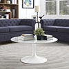 "Lippa 36"" Artificial Marble Coffee Table - White - EEI-1650-WHI"