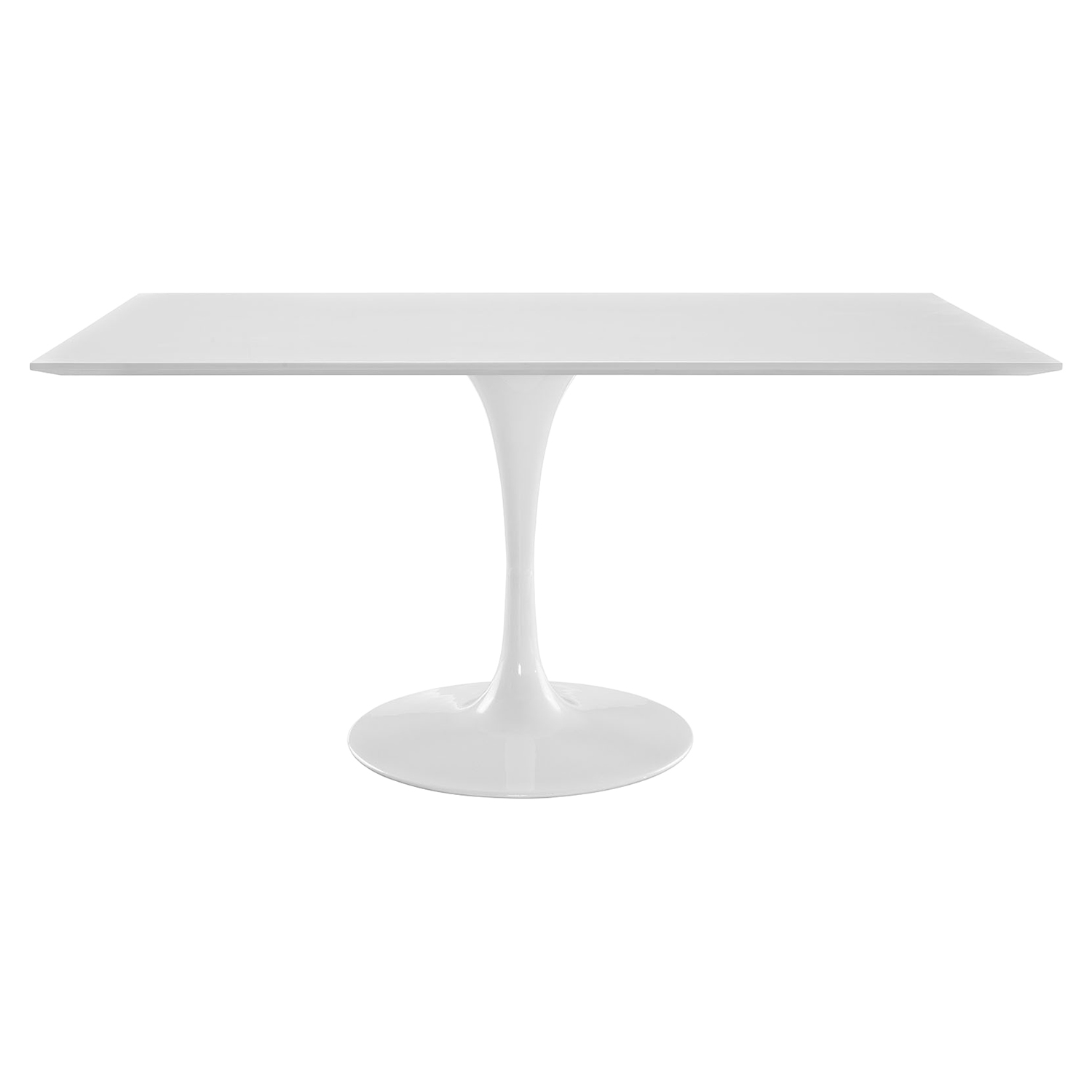 "Lippa 60"" Rectangle Dining Table - White - EEI-1656-WHI"