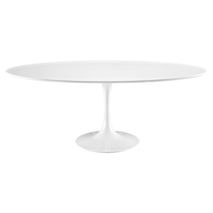 "Lippa 78"" Wood Top Dining Table - White"
