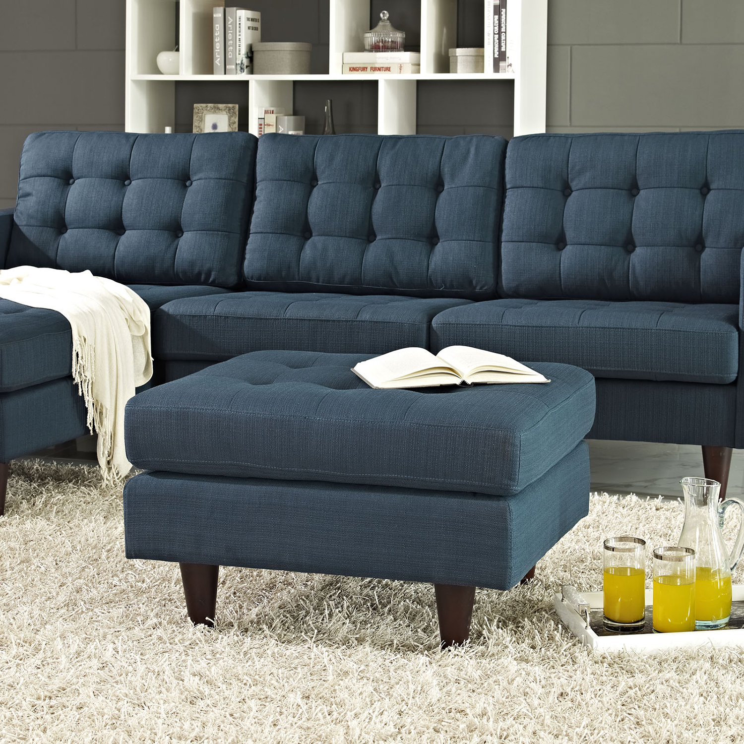 Empress Upholstered Ottoman - Tufted - EEI-1667