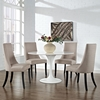 Reverie Upholstery Dining Side Chair - Beige (Set of 4) - EEI-1677-BEI