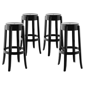 Casper Bar Stool - Polycarbonate, Backless (Set of 4)