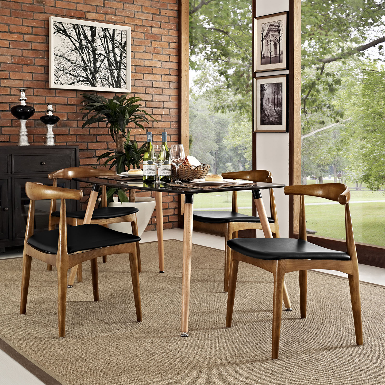 Tracy Dining Chair - Black (Set of 4) - EEI-1682-BLK