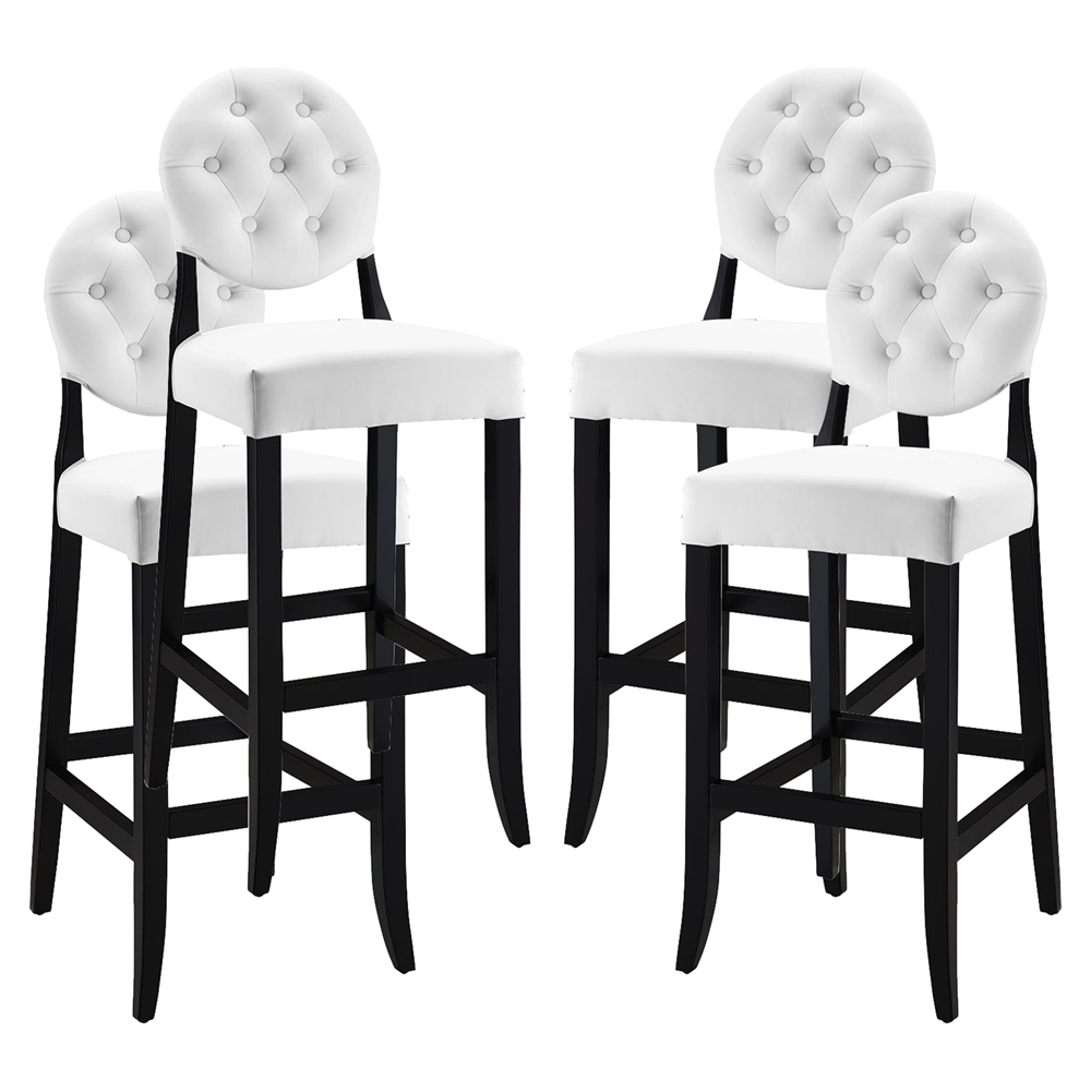 Button Bar Stool White Tufted Set of 4 DCG Stores : eei 1686 whi from www.dcgstores.com size 1000 x 1000 jpeg 221kB