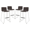 Dive Armless Leatherette Bar Stool (Set of 4) - EEI-1687