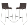 Dive Leatherette Bar Stool - Brown (Set of 2) - EEI-1688-BRN