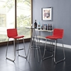 Dive Leatherette Bar Stool - Red (Set of 2) - EEI-1688-RED