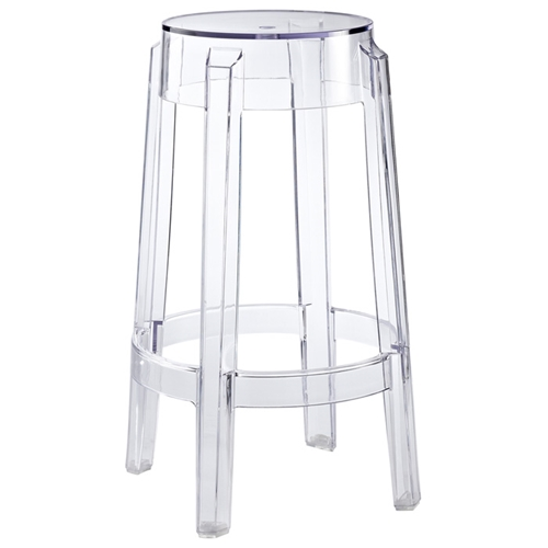 Casper 26 Quot Backless Counter Stool Clear Acrylic Dcg Stores