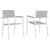 Maine Outdoor Patio Dining Armchair - White, Light Gray (Set of 2) - EEI-1739-WHI-LGR-SET
