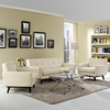 Engage 3 Pieces Leather Sofa Set - Tufted, Beige - EEI-1762-BEI-SET