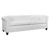 Earl 2 Pieces Faux Leather Sofa Set - Tufted, White - EEI-1774-WHI-SET