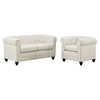 Earl 2 Pieces Fabric Sofa Set - Button Tufted, Beige - EEI-1777-BEI-SET