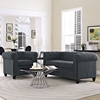 Earl 2 Pieces Fabric Sofa Set - Button Tufted, Gray - EEI-1777-GRY-SET