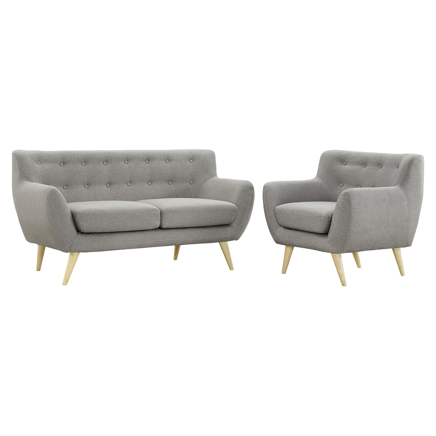 Remark 2 Pieces Sofa Set - Tufted - EEI-1783-SET