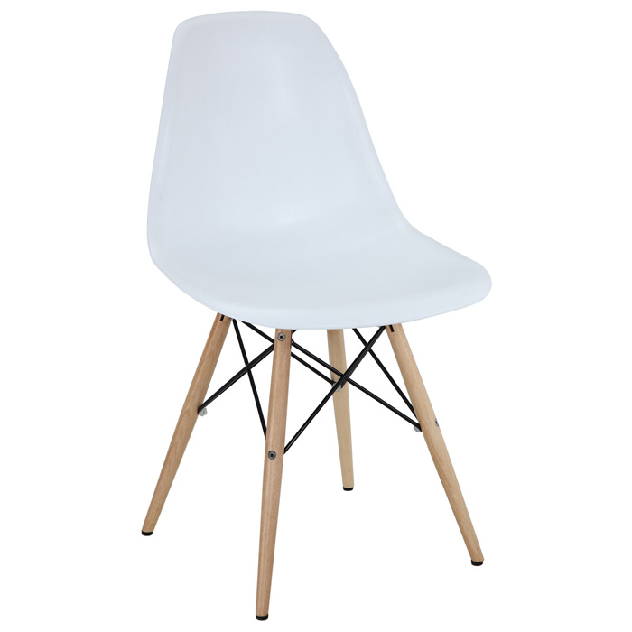 Wood Pyramid Base Side Chair - EEI-180